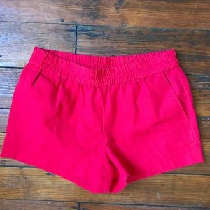 J. Crew Factory red shorts size 4